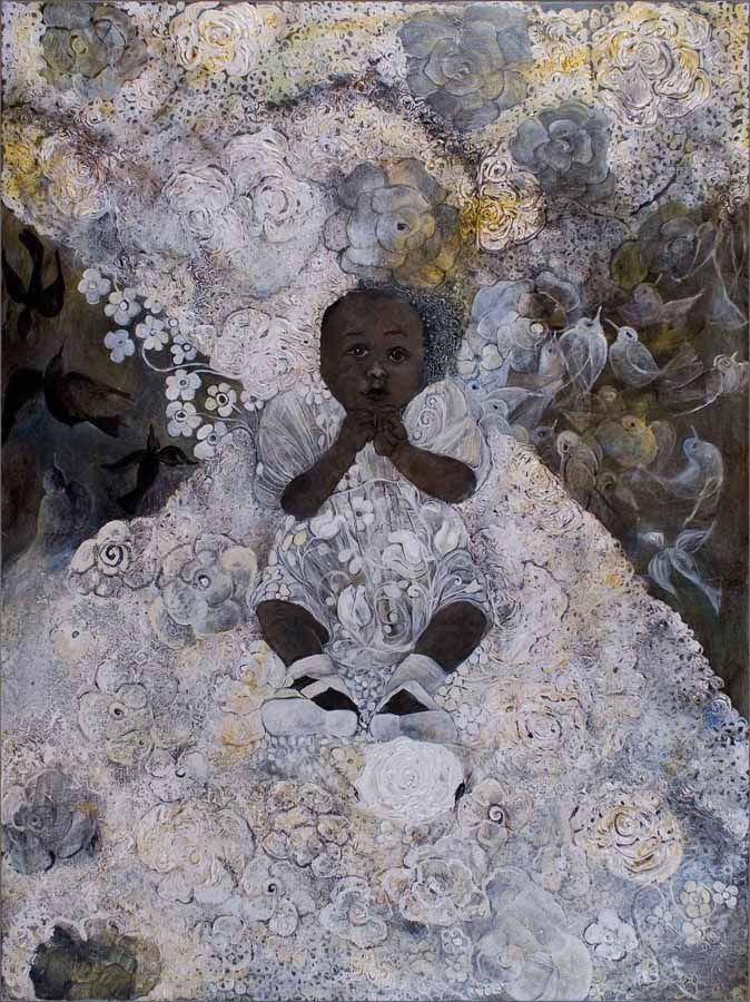 Black-Little-Angel,-2010,-Acrylic-on-canvas,-48x36-in.-SMITHSONIAN-AMERICAN--ART-MUSEUM-COLLECTIONDEMI